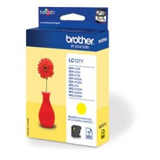 Brother inktcartridge LC-121Y geel
