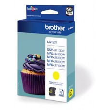 Brother inktcartridge LC-123Y geel