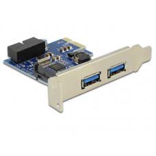 Delock USB 3.0 PCI Express kaart 2x USB 3.0 + 1x USB 3.0 intern