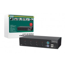Digitus 4 poort Combo KVM switch
