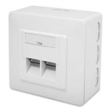 Digitus DN-9002-N wandcontactdoos 2x CAT.5e opbouw
