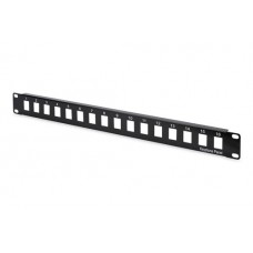 Digitus 19 inch 1U 16 poort modulair patchpanel