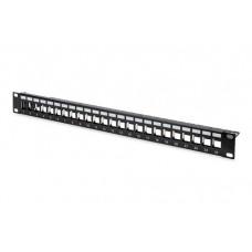 Digitus 19 inch 1U 24 poort modulair patchpanel