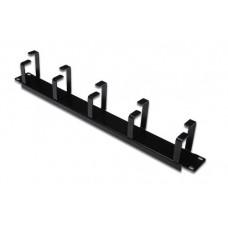 Digitus 19 inch rangeer-paneel met kabelgeleiders zwart