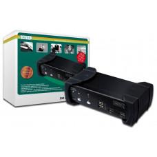Digitus 2 poort USB DVI KVM switch met audio