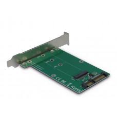 adapter voor inbouwen M.2 SATA SSD in slot van PC
