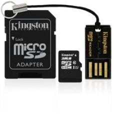Kingston MicroSD 16 GB met USB microSD cardreader