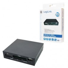Logilink USB 2.0 All-in-1 Card Reader voor 3½ inch inbouw opening