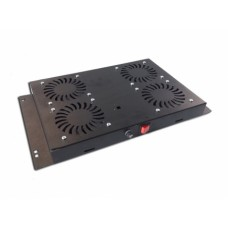 Mirsan 4-fan ventilatorunit zwart