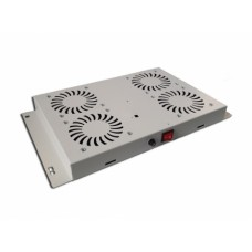 Mirsan 4-fan ventilatorunit lichtgrijs