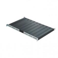 Mirsan 19 inch legplank voor 100 cm. diepe patchkast zwart