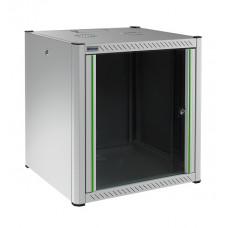 Mirsan 19 inch wandpatchkast 16U extra diep met uitneembare zijpanelen lichtgrijs