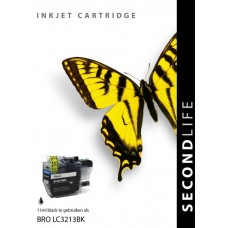 SecondLife compatible inktcartridge Brother LC-3213BK zwart