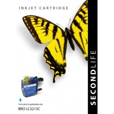 SecondLife compatible inktcartridge Brother LC-3213C cyaan