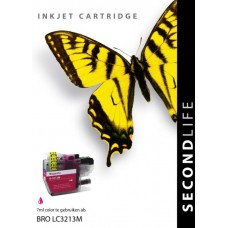 SecondLife compatible inktcartridge Brother LC-3213M magenta