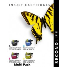 SecondLife compatible inktcartridge multipack Brother LC-3213