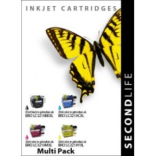 SecondLife compatible inktcartridge multipack Brother LC-3219