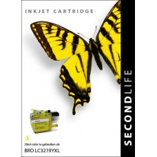 SecondLife compatible inktcartridge Brother LC-3219XLY geel