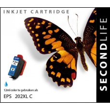 SecondLife compatible inktcartridge Epson 202XL cyaan