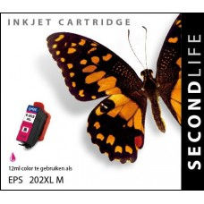 SecondLife compatible inktcartridge Epson 202XL magenta