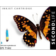 SecondLife compatible inktcartridge Epson T1002 cyaan