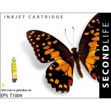 SecondLife compatible inktcartridge Epson T1004 geel