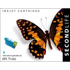 SecondLife compatible inktcartridge Epson T1282 cyaan