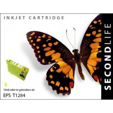 SecondLife compatible inktcartridge Epson T1284 geel