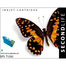 SecondLife compatible inktcartridge Epson T1292 cyaan