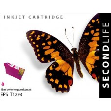 SecondLife compatible inktcartridge Epson T1293 magenta