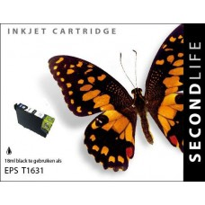 SecondLife compatible inktcartridge Epson 16XL zwart (T1631)