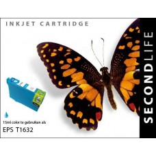 SecondLife compatible inktcartridge Epson 16XL cyaan (T1632)