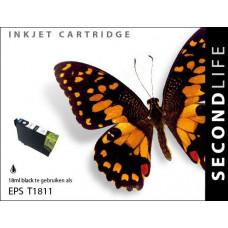 SecondLife compatible inktcartridge Epson 18XL zwart (T1811)
