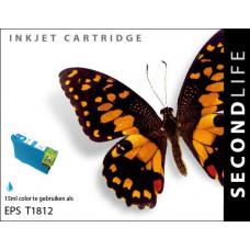 SecondLife compatible inktcartridge Epson 18XL cyaan (T1812)