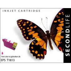 SecondLife compatible inktcartridge Epson 18XL magenta (T1813)