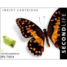 SecondLife compatible inktcartridge Epson 18XL geel (T1814)