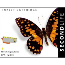SecondLife compatible inktcartridge Epson 24XL T2434 geel