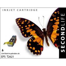 SecondLife compatible inktcartridge Epson 26XL zwart