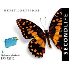 SecondLife compatible inktcartridge Epson 27XL cyaan