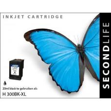 SecondLife compatible inktcartridge HP nr.300XL zwart (CC641EE)