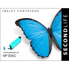SecondLife compatible inktcartridge HP nr.935XL cyaan (C2P24AE)