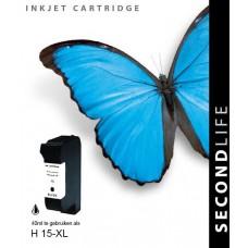SecondLife compatible inktcartridge HP nr.15 zwart (C6615DE)