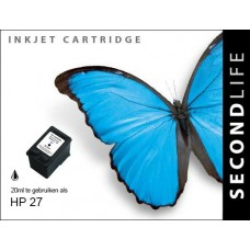 SecondLife compatible inktcartridge HP nr.27 zwart (C8727A)