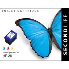 SecondLife compatible inktcartridge HP nr.28 kleur (C8728A)