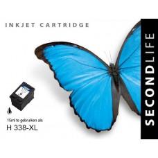 SecondLife compatible inktcartridge HP nr.338 zwart (C8765E)