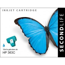 SecondLife compatible inktcartridge HP nr.363 cyaan (C8771EE)