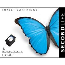 SecondLife compatible inktcartridge HP nr.21XL zwart (C9351AE)