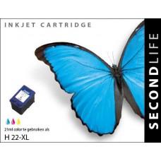 SecondLife compatible inktcartridge HP nr.22XL kleur (C9352AE)