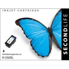 SecondLife compatible inktcartridge HP nr.350XL zwart (CB336EE)