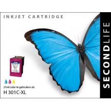 SecondLife compatible inktcartridge HP nr.301XL kleur (CH564E)